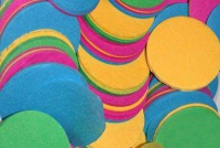 SFAT Confetti ROUND 55 mm Multicoloured - 1 kg